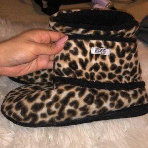 PINK cheetah slippers
